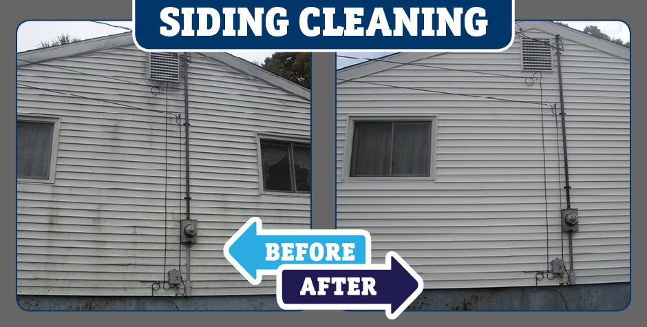 Home Siding Siding garage door cleaning before and after