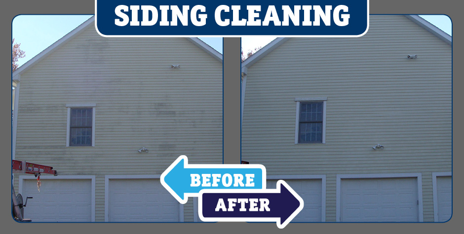 Home Siding Wall cleaning before and after
