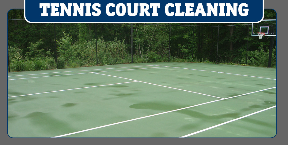 tennis courty cleaning
